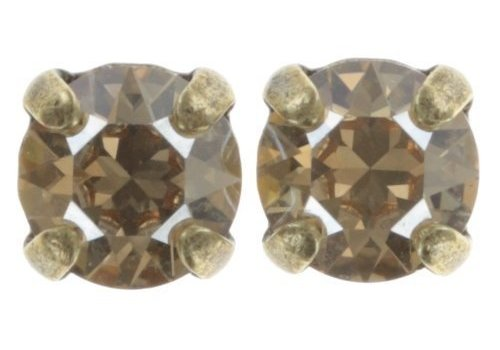 KONPLOTT Ohrstecker| Black Jack | beige crystal golden shadow