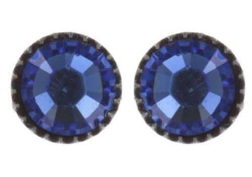 KONPLOTT Ohrstecker| Black Jack | blue sapphire