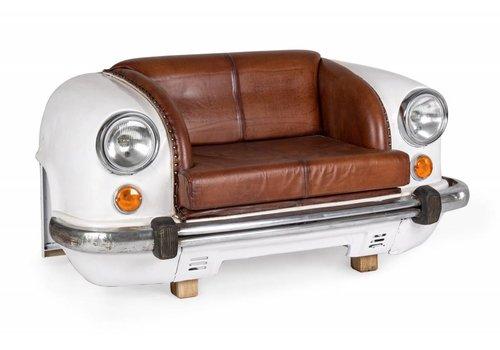 Sofa | Autofront | Leder | weiss