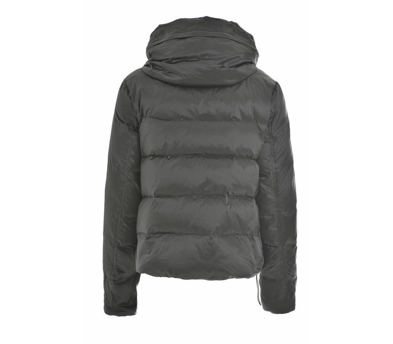 Daunenjacke | High Neck Down Jacket | Silver Grey