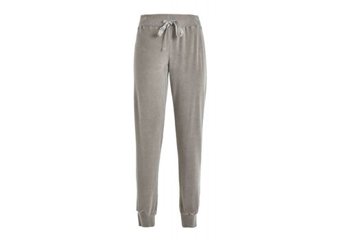 DEHA Nicky Plüsch Hose | Chenille Jogger Pants | Nici Light Grey