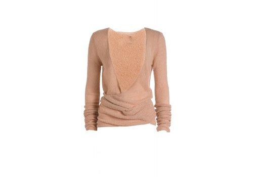 DEHA Wickelcardigan | Boucle Wrap Sweater | Deep Rose