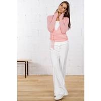 Wickelcardigan | Boucle Wrap Sweater | Deep Rose