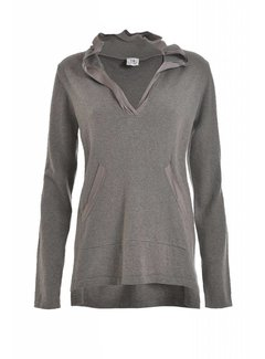 DEHA Hodded Sweater   Kashmir   stone