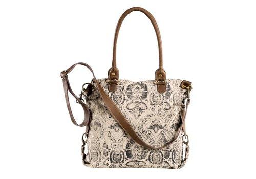 Tasche | Shopper | Ornamente | Canvas | Leder
