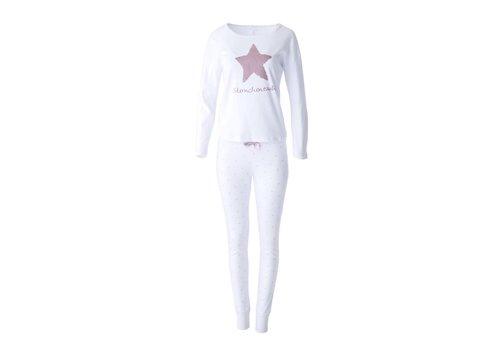 Louis & Louisa Pyjama Oversize | Sternchenzauber | Weiss