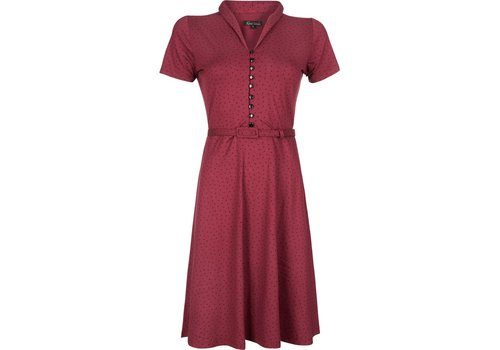 King Louie Kleid | Emmy Dress Little Dots | Plum Red