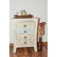 Nachttisch Dee 4 Schubladen | Vintage | Massivholz