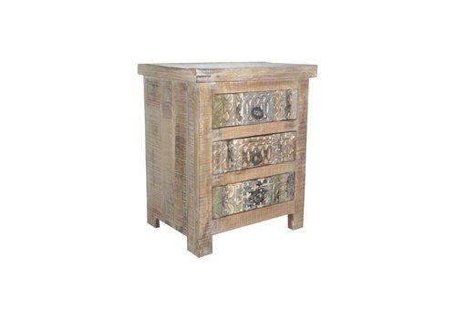 Nachttisch Ashley 3 Schubladen | Orientalisch | Massivholz