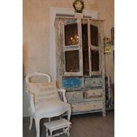 Schrank Vitrine Kim | Vintage | Massivholz | Handmade
