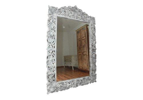 Spiegel Franky | weiss | Massivholz | Handmade | 120x180