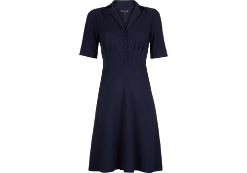 King Louie Kleid | Diner Dress Milano Crepe | Dark Navy