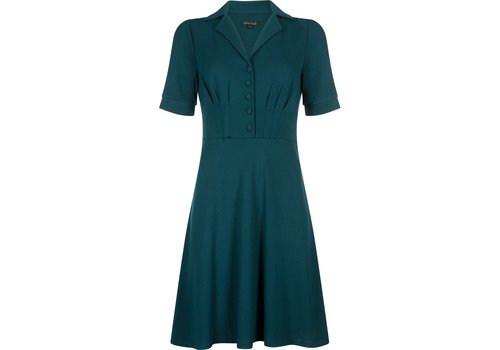 King Louie Kleid | Diner Dress Milano Crepe | Dragonfly Green