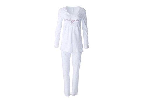 Louis & Louisa Pyjama Babydoll | Sternchenzauber | Weiss | Masche