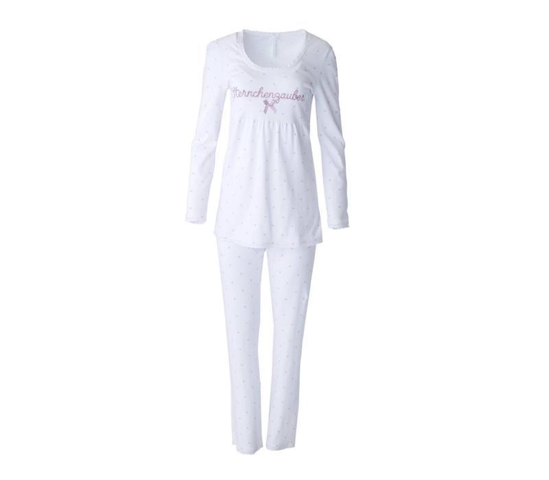 Pyjama Babydoll | Sternchenzauber | Weiss | Masche