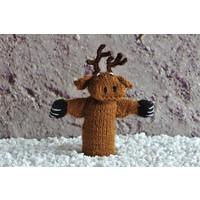 Handgestrickte Fingerpuppen aus Wolle - Wald