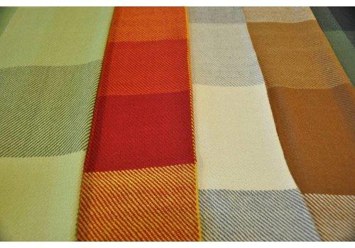 Suyana Mundial Sofadecken mit Makramee Rand - aus hochwertiger Alpakawolle