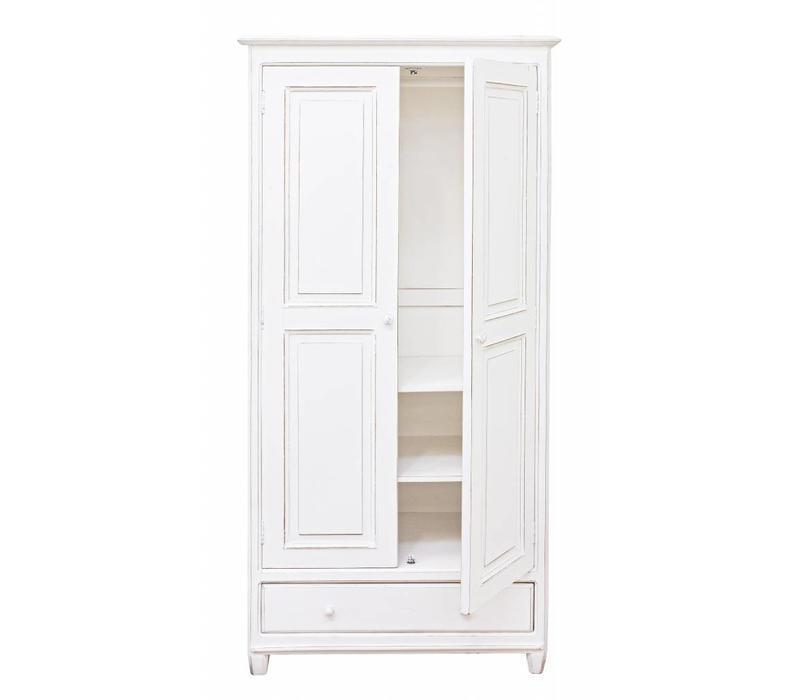 Kleiderschrank Shabby Chic | Madeleine | 2 Türen 3 Schubladen ...