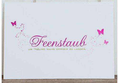 Postkarte | Feenstaub | Pink