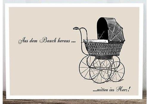 Postkarte | Kinderwagen