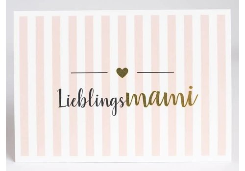 Postkarte | Lieblingsmami | Gold