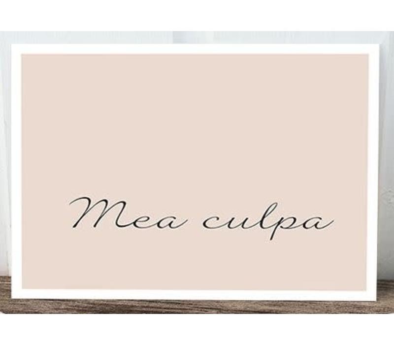 Postkarte | Mea culpa | Pastell