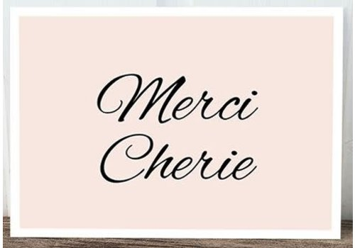 Postkarte | Merci Cherie