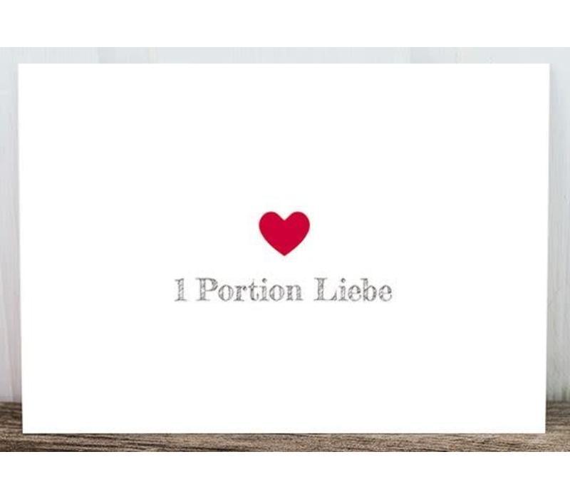 Postkarte | Portion Liebe