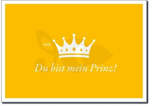 Postkarte | Prinz | Metallic Gold