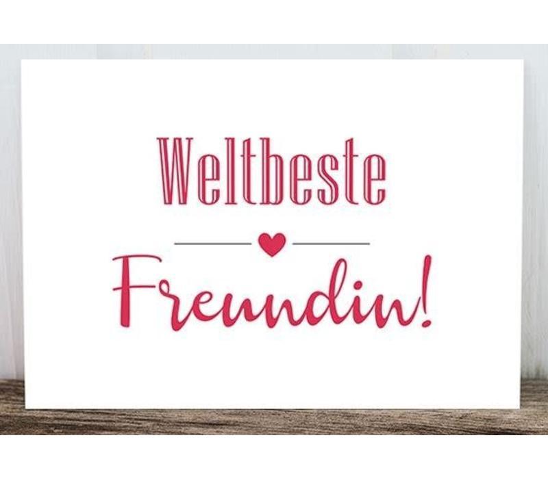 Postkarte | Weltbeste Freundin