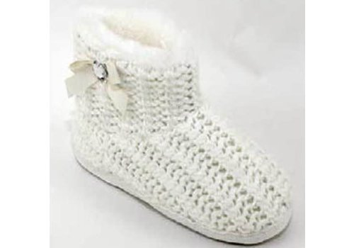 Hausschuhe | Strickboots | Finken | Weiss