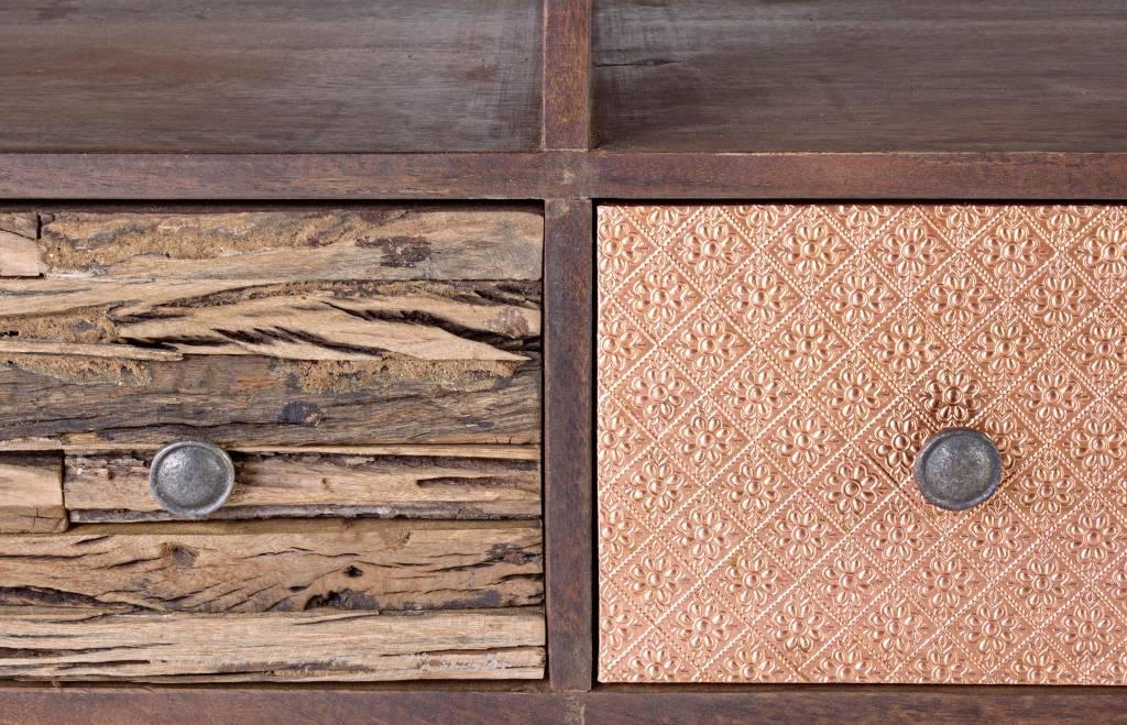 tv mobel retro style vintage tv mobel george unikat massivholz style enchante