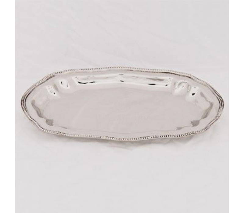 Deko Schale | Oval | Silberfarben