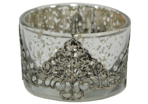 Teelichthalter | Altsilber | Vintage