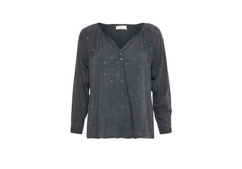 Cream Clothing Bluse   Star Blouse   Iron Grey