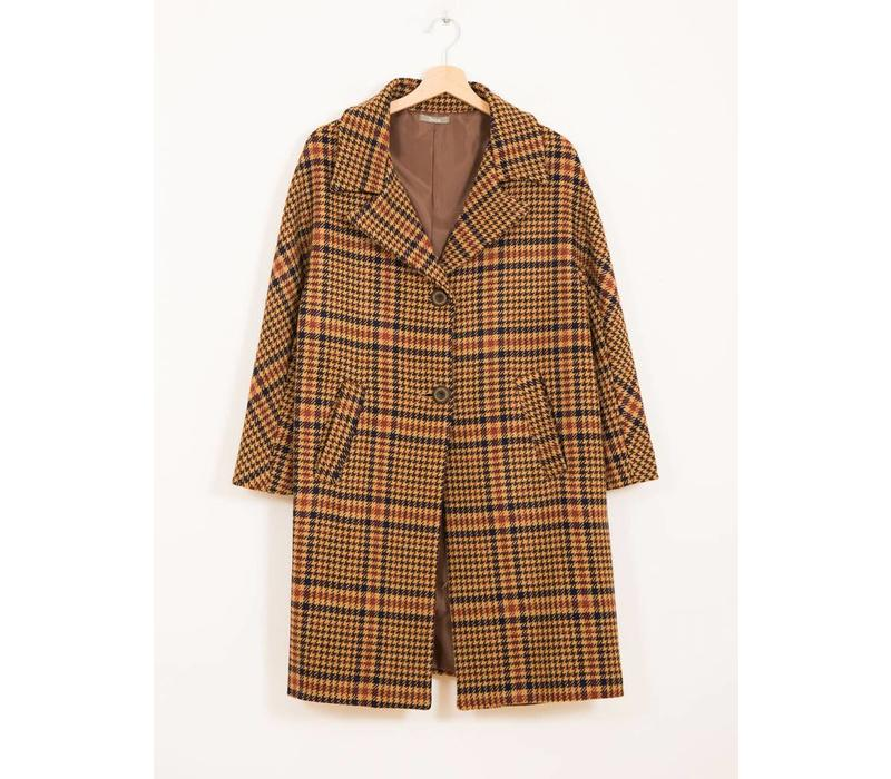 Mantel | Vintage Karo Wales | Braun