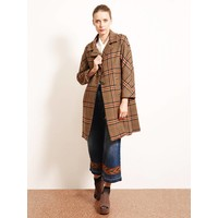 Mantel   Vintage Karo Wales   Braun
