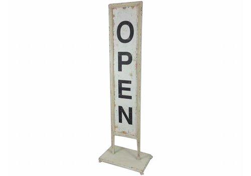 Chic Antique Schild | OPEN - CLOSE | Vintage