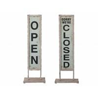 Schild | OPEN - CLOSE | Vintage