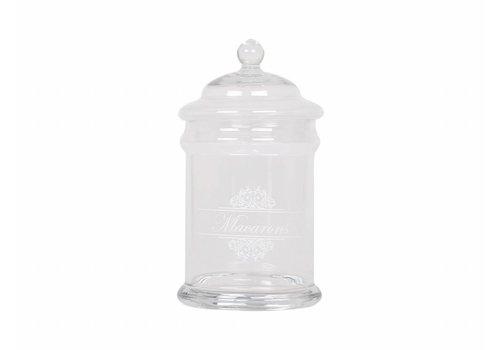 Chic Antique Bonboniere | Macarons | Glas | D15/H26 cm