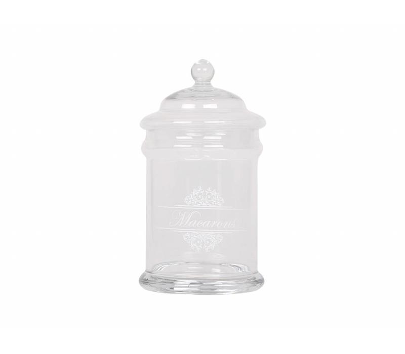 Bonboniere | Macarons | Glas | D15/H26 cm