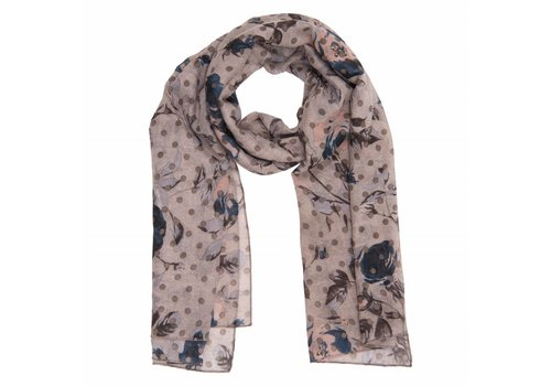 Clayre & Eef Schal Romantic rose  | Khaki