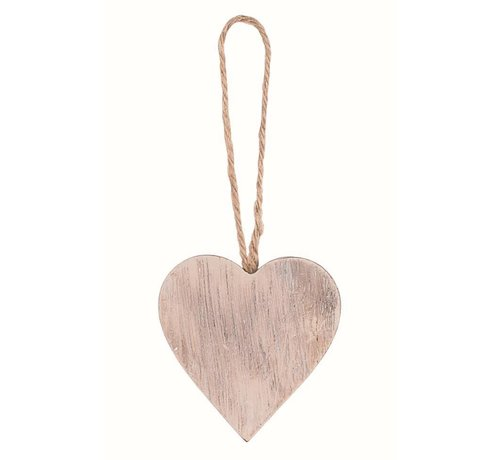 Dekoanhänger | Herz | Holz | Beige