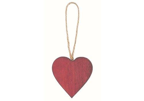 Dekoanhänger | Herz | Holz | Rot