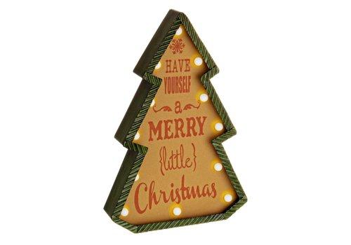 Weihnachtsdeko | Retro Tanne | beleuchtet