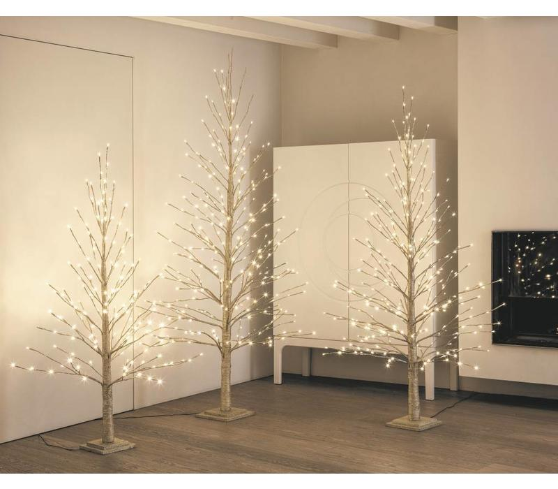 Goldener Deko Christbaum mit 150 LED`s
