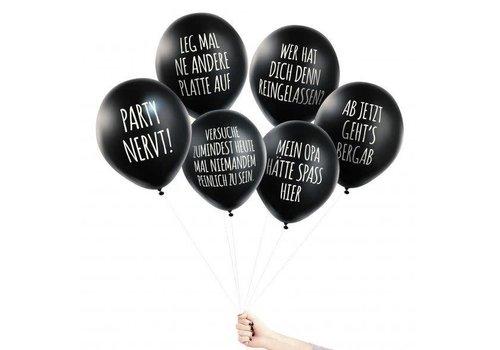 Pechkeks Anti - Party Ballons | 6 Stück