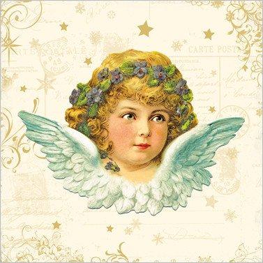 weihnachts servietten vintage angel 100 tissue. Black Bedroom Furniture Sets. Home Design Ideas