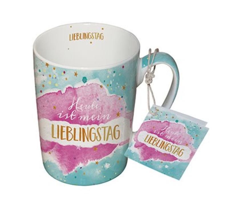 Tasse mit Henkel | Lieblingstag | Porzellan