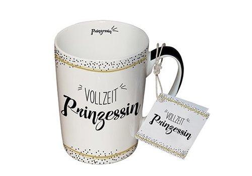 Tasse mit Henkel | Vollzeit Prinzessin | Porzellan